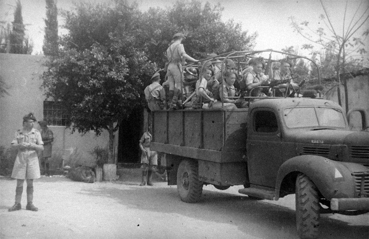 1948. Британские войска покидают лагерь Рош ха-Аин