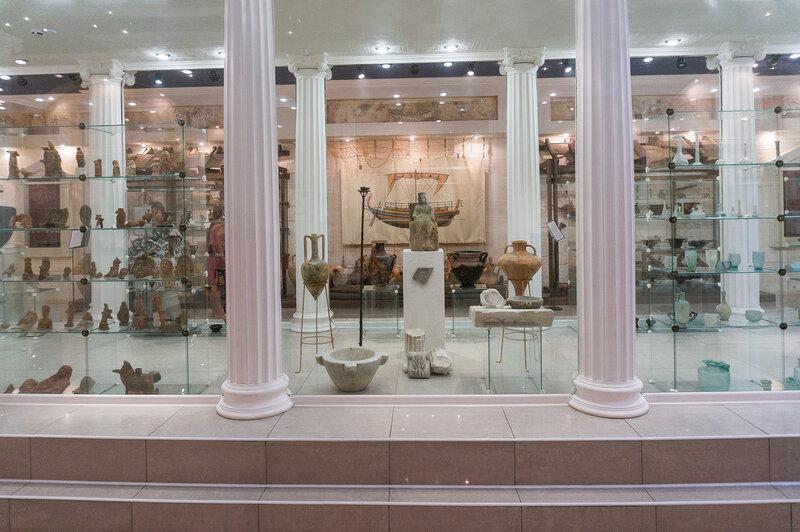 Главная экспозиция археологического музея Горгиппии в Анапе