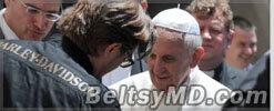 Папа Франциск отдал бедным свой Harley Davidson