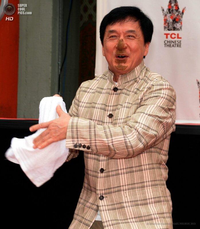 Джеки Чан на Аллее славы