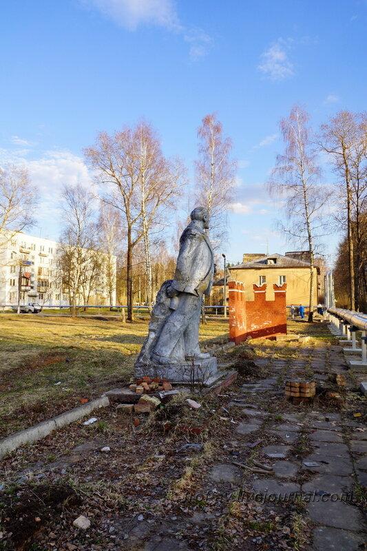 Памятник Ленину в городке ПВО, Рузский район Московской области