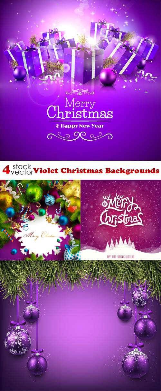 Новый год и Рождество - Фиолетовые Фоны