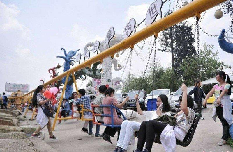 длинные качели китай