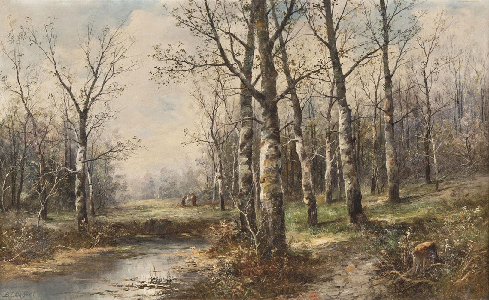 Karl Kaufmann - Birkenwald im Frühling