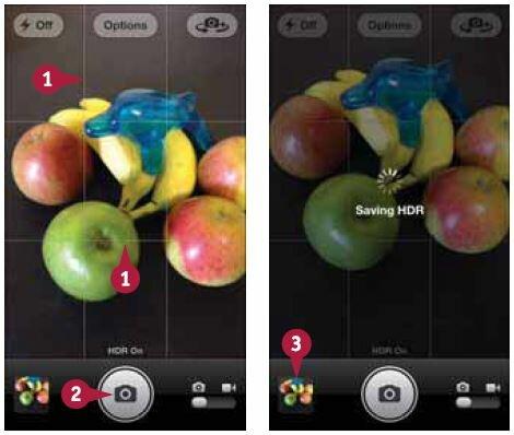 Фотографирование в режиме HDR и просмотр фотографий