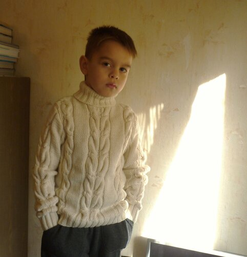 свитер с косами,для мальчика
