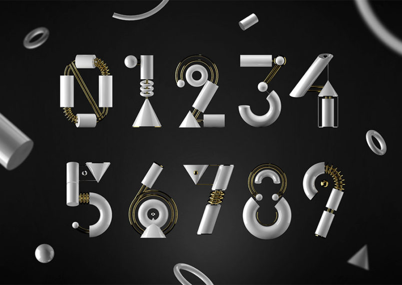 Genesis Numbers: 3D Typography by Miguel Sousa