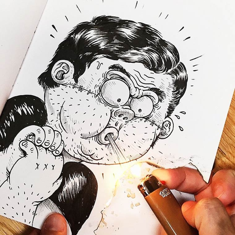 Inkteraction part 2 - Quand l'illustrateur Alex Solis se bat contre ses propres dessins