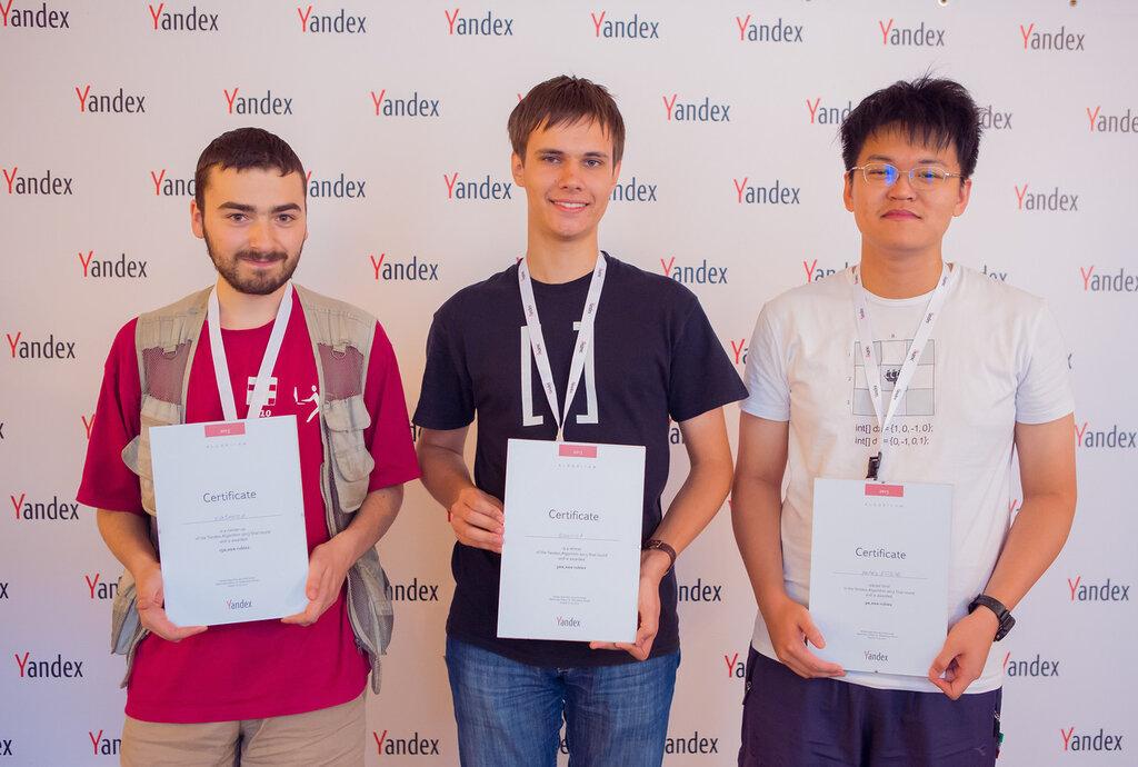 Победители Янлекс.Алгоритм