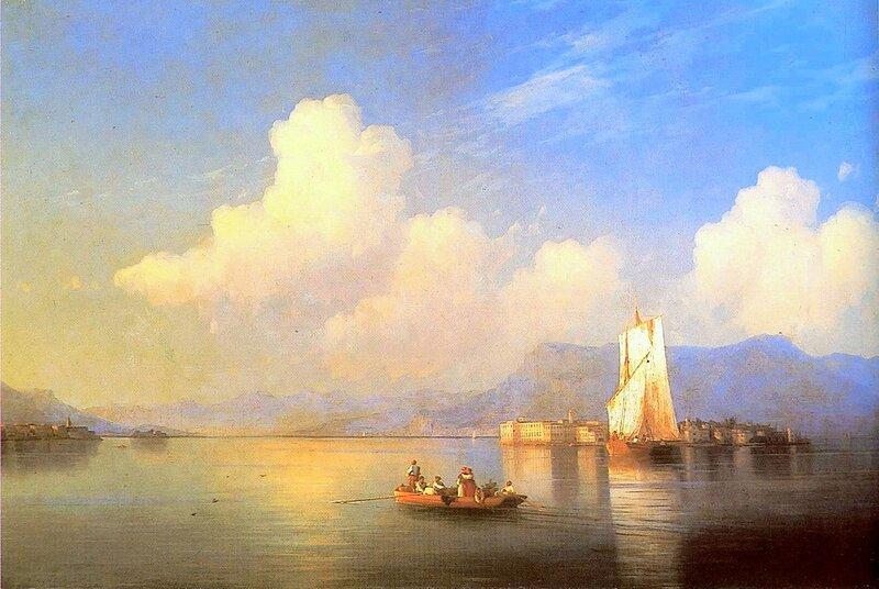 Итальянский пейзаж, Айвазовский Иван Константинович, картины