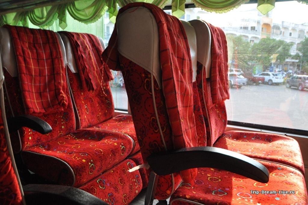 Кресла в автобусе класса Express