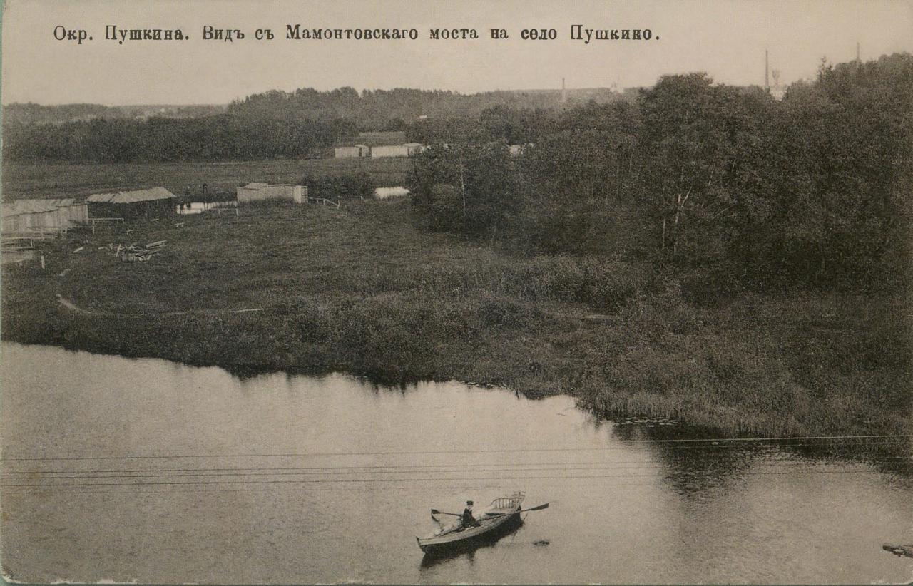 Окрестности Москвы. Мамонтовка. Вид с Мамонтовского моста на село Пушкино