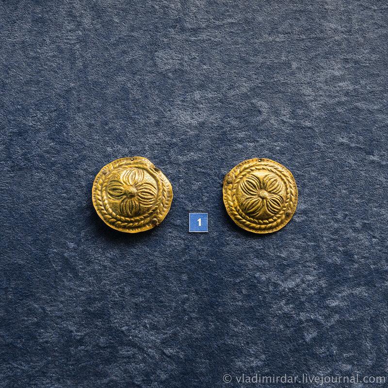 Фалары. Серебро, железо. II в до н.э. Станица Сериевская.