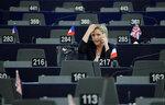 Марин Ле Пен, лидер партии «Национальный фронт» и член Европарламента, участвует в выборах нового президента Европарламента в Страсбурге, Франция, 17 января 2017 года. Фото: Christian Hartmann / Reuters