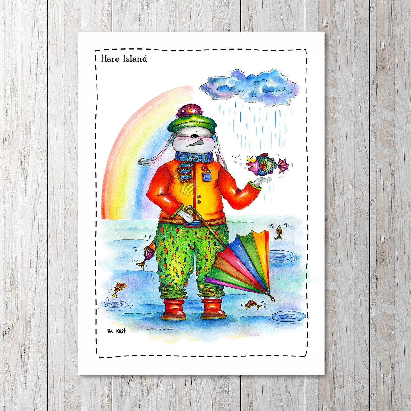 Funny rabbit / рисунки Ксения Крит