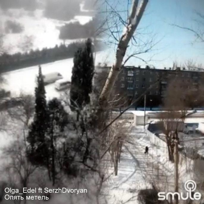 В Севастополе выпал снег!:) Опять метель - Olga_Edel ft SerzhDvoryan - скрин видео