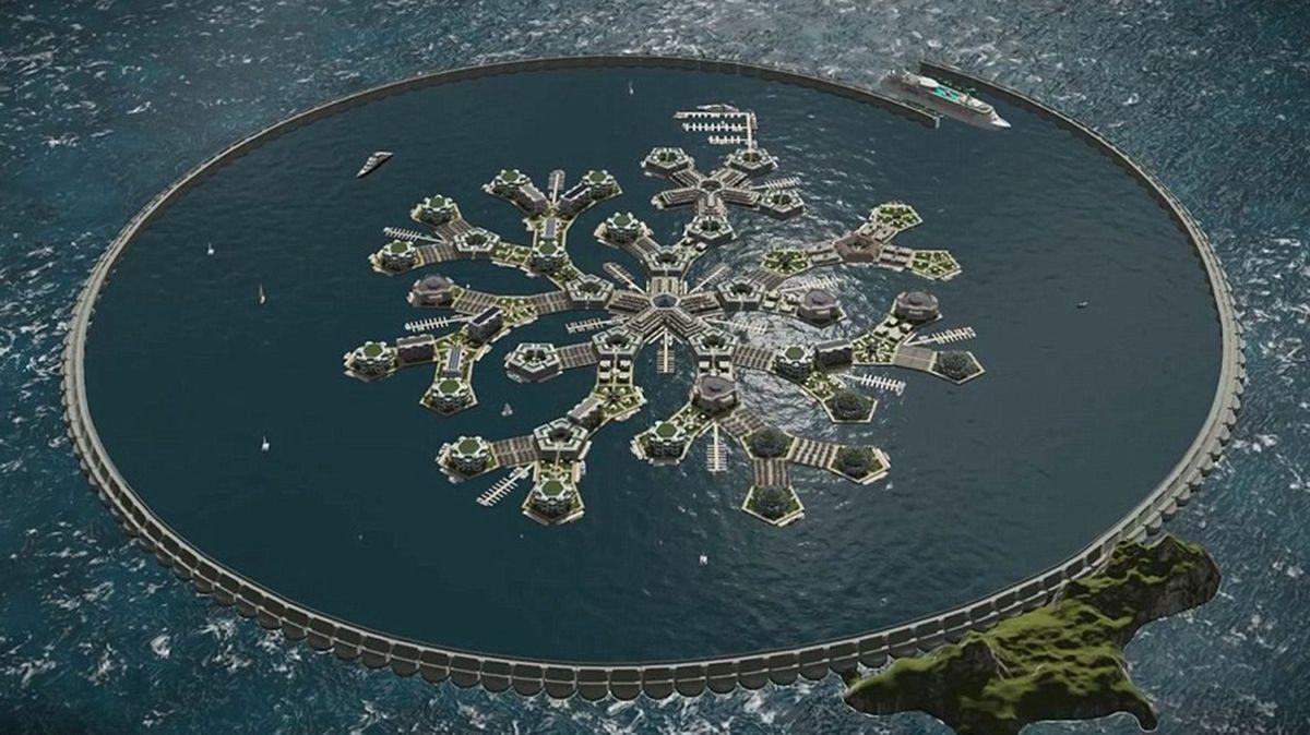 Разработан проект первого в мире города на воде (8 фото)