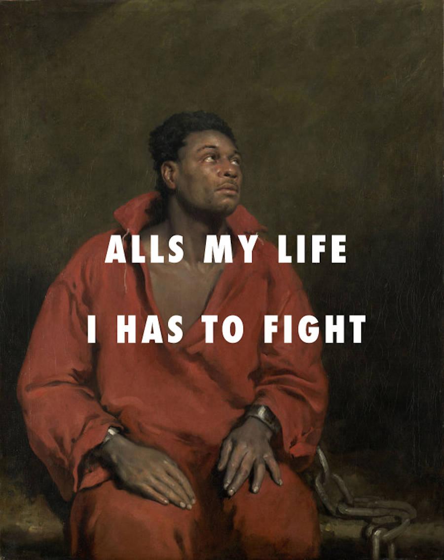 Classical Paintings with Hip Hop Lyrics