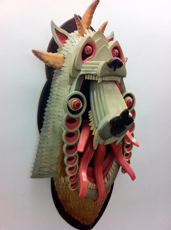 AJ Fosik Mixed Media sculpture surrealism wood wood work