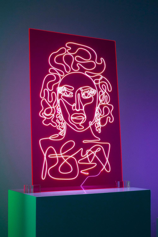 Electrifying Neon Portraits of Rap Artists