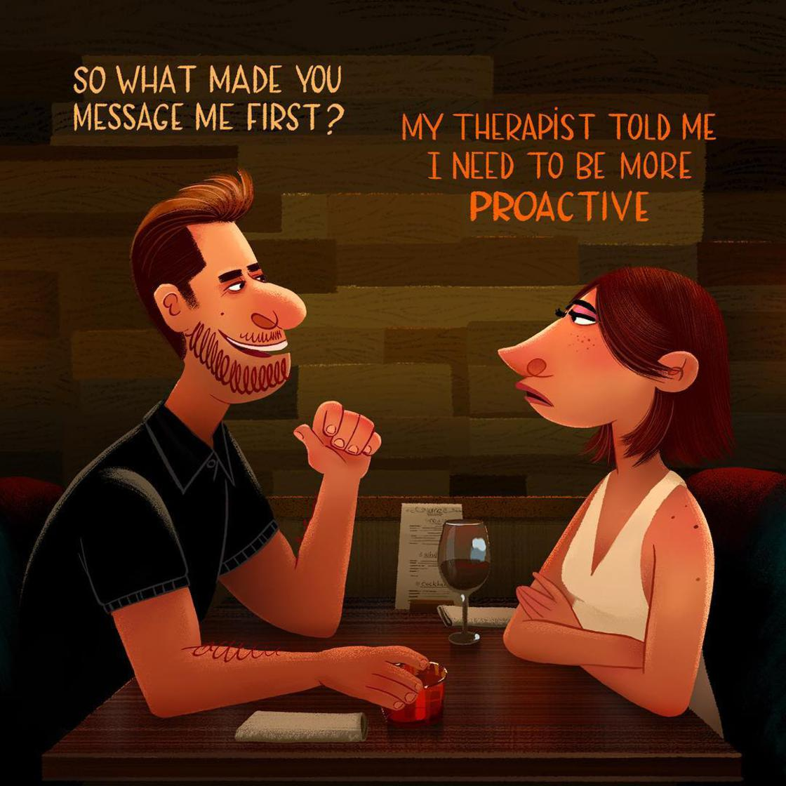 This guy illustrates the most absurd phrases he hears around him