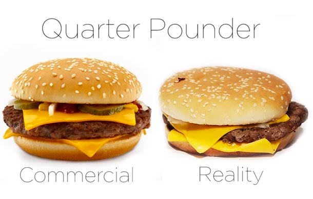McDonald's – Comparing advertising and reality