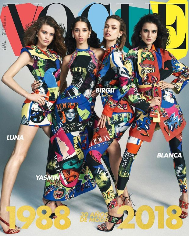 Top Models Pose in Versace for Vogue Spain 30th Anniversary Issue (1 pics)