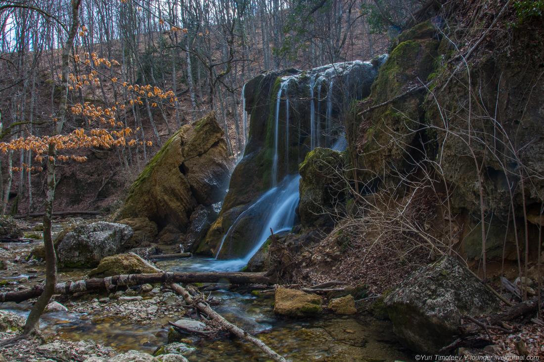 """Крым. Водопад """"Серебряные струи"""" - спустя два года после обрушения -"""