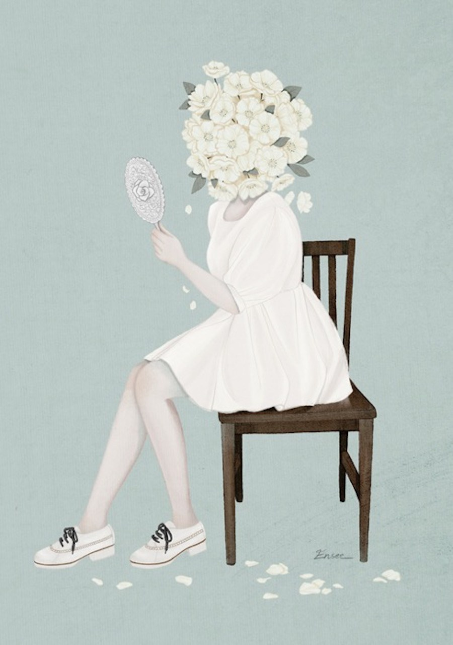 A delicadeza das ilustracoes de Choi Mi Kyung