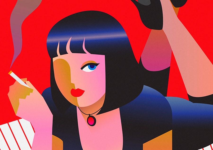 """Nas ondas do amor"" das ilustracoes animadas de Minji Moon"