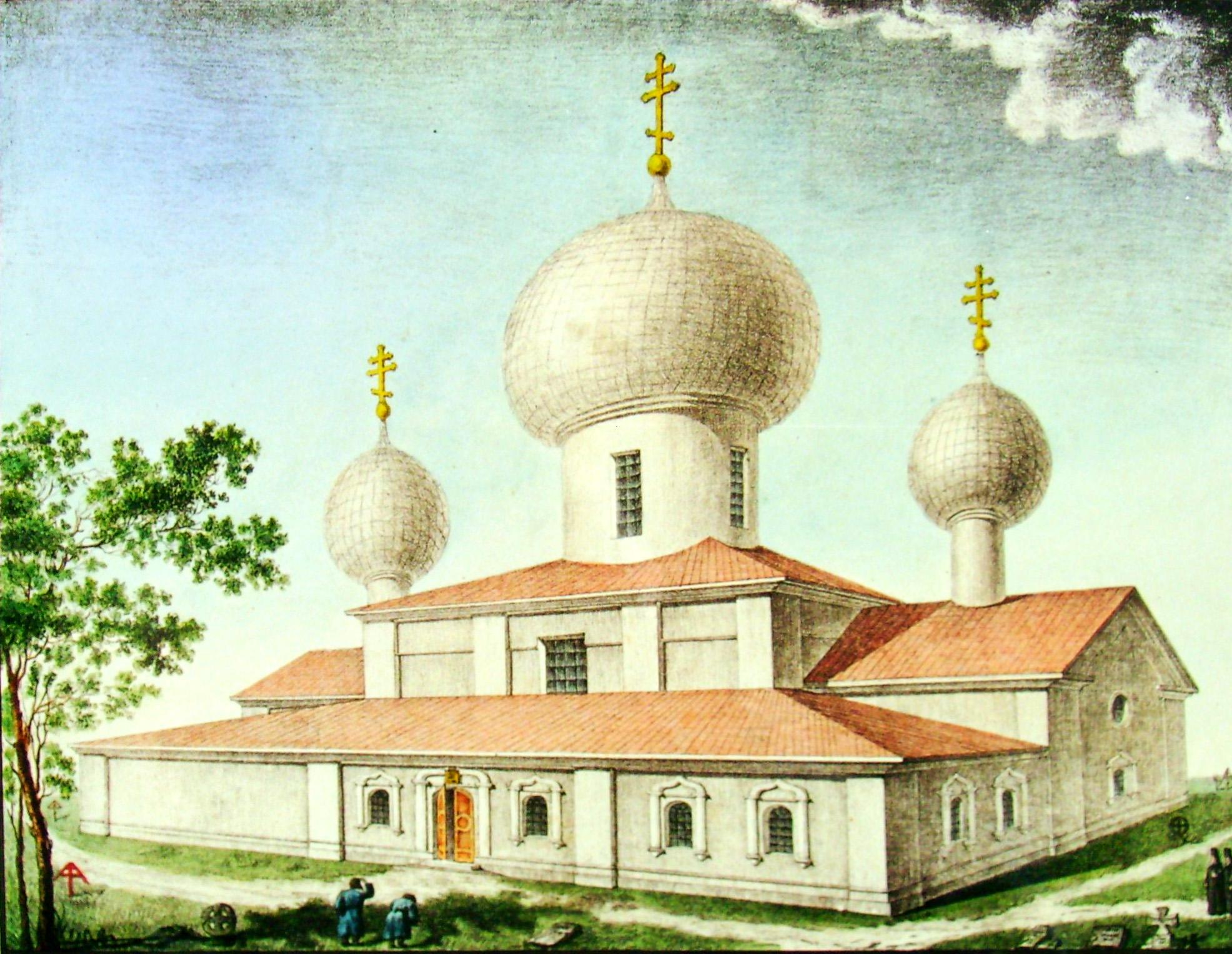 31. Вид бывшей старой Церкви в Селе Грузине. И. Семенов в 1823 году.