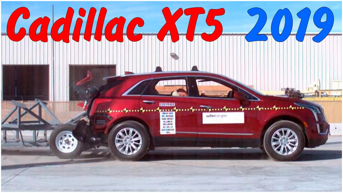 Задний краш-тест Cadillac XT5 2019