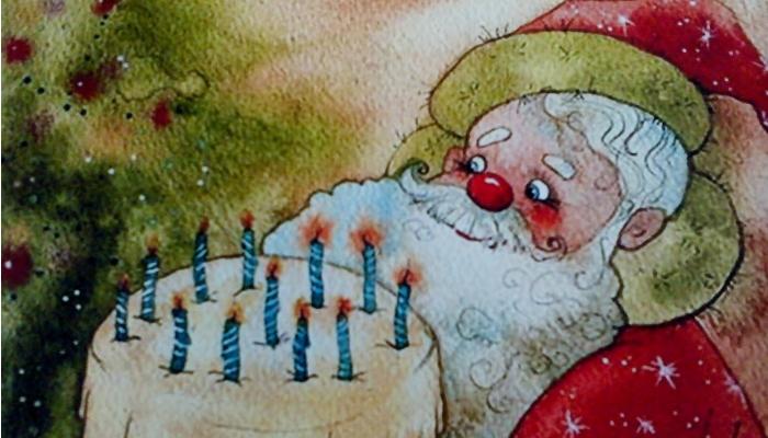 Открытки. С Днем Рождения Деда Мороза! Поздравляем