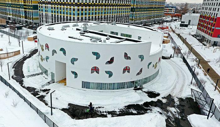 Круглый детский сад в Москве