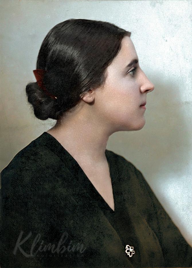 до и после колоризация Ольга Ширнина прошлое Российская империя СССР тогда и сейчас художница ч/б