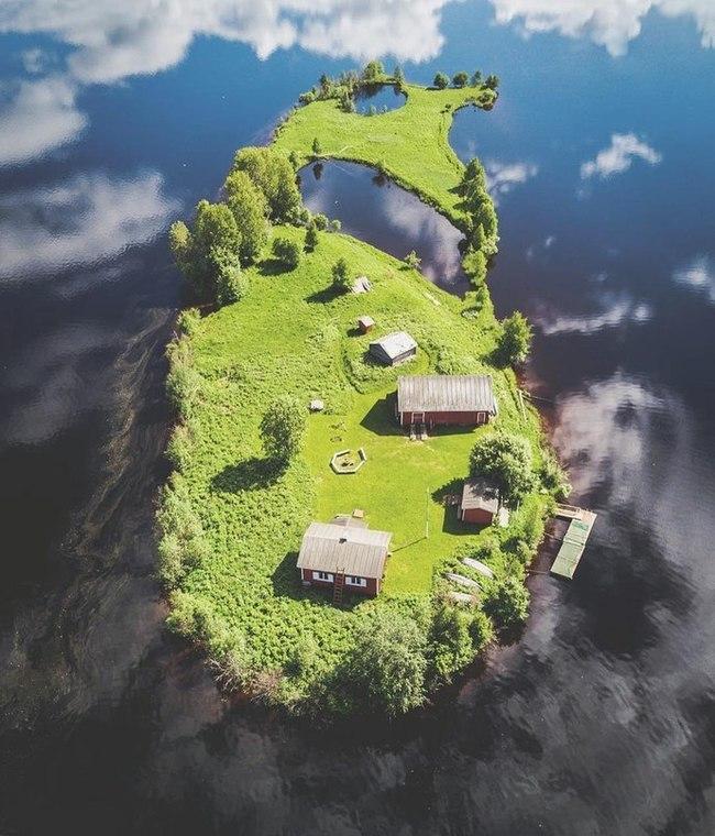 Остров Kotisaari, Финляндия.