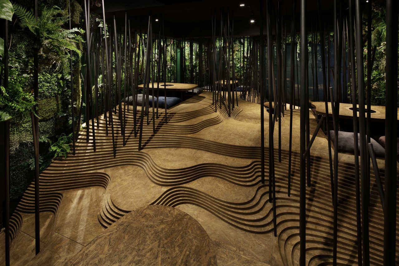 Japanese Restaurant Inspired by Nature's Elements