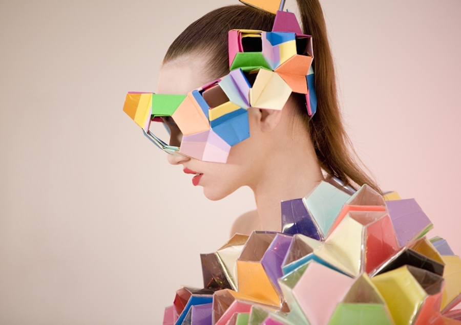 Chromatic Fashion Sculptures
