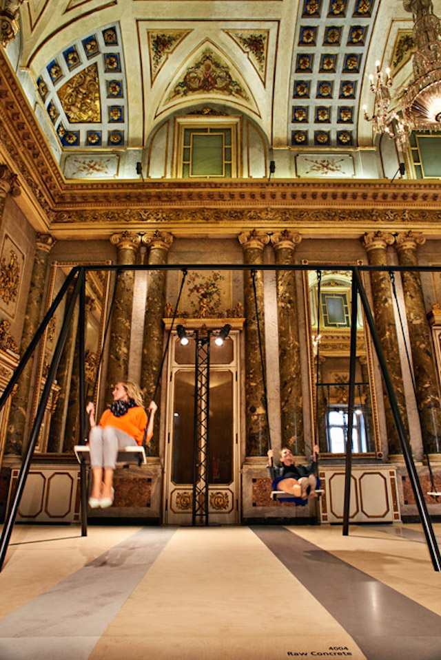 Swing Set Installation in Grand Milanese Palazzo