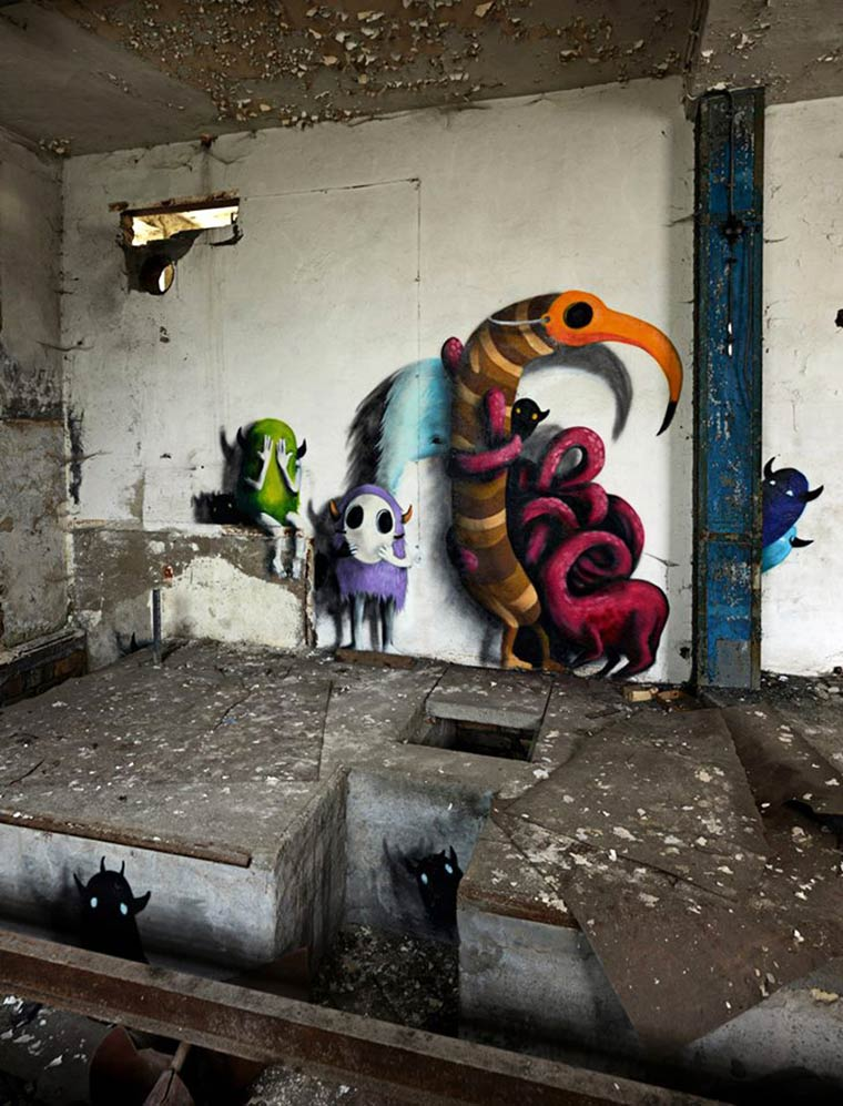 Monzter – Some adorable monsters in abandoned buildings