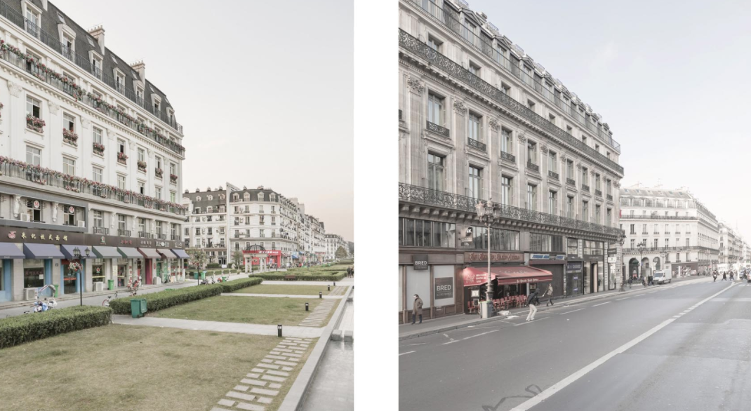 Revealer Snapshots of Paris and Its Chinese Replica, Tianducheng