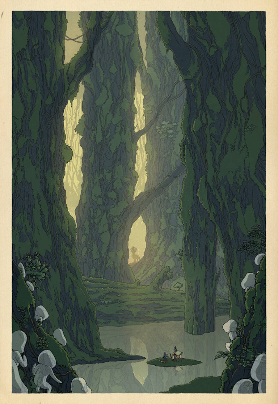 posters and prints landscapes ghibli printing poster prints characters Landscape