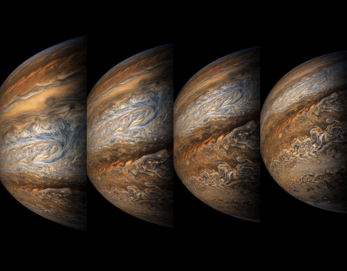 Up-Close Images of Jupiter Reveal an Impressionistic Landscape of Swirling Gases