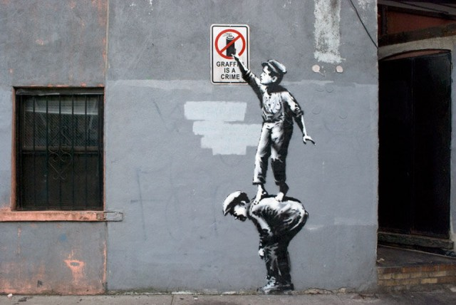 Banksy Street Art in Animated GIF