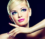 Blonde model with fashion make-up