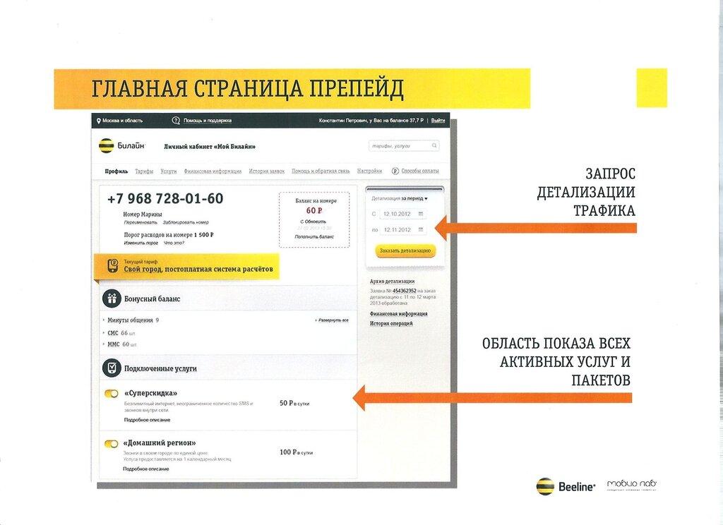 Личный кабинет Билайн - регистрация, вход, управление