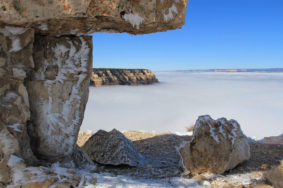 Море из облаков в Гранд Каньоне