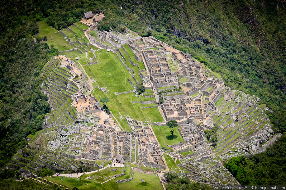 Вид сверху Мачу-Пикчу