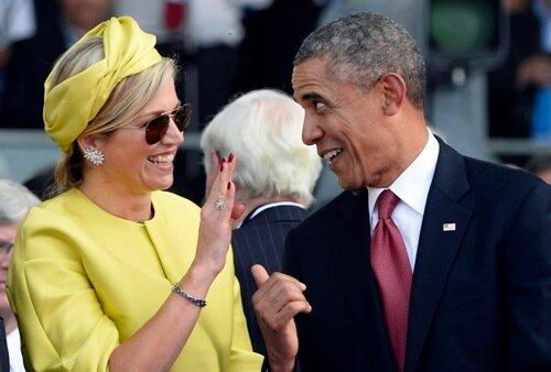 Обама и королева Нидерландов - Максима