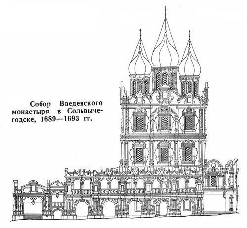 Собор Введенского монастыря в Сольвычегодске, фасад